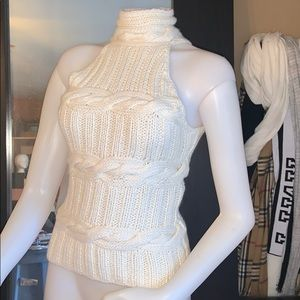 Bebe sweater sleeveless sz xs fit small too